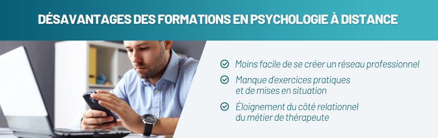 Désavantages des formations en psychologie à distance
