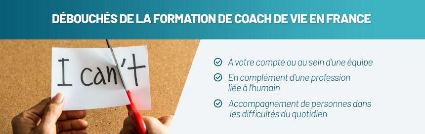 Dévouchés des formations en coach de vie en France